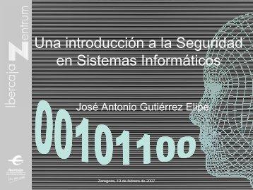 Una introducción a la Seguridad en Sistemas Informáticos