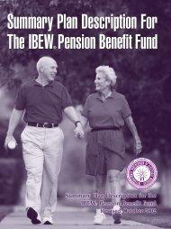 Summary Plan Description for the IBEW Pension Benefit Fund