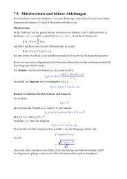 7.5. Mittelwertsatz und höhere Ableitungen