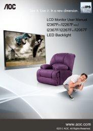 I2367F /I2267FWH/ I2367F I2267FW / /I2067F LED ... - AOC Monitor