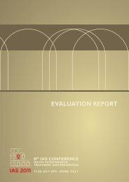 IAS 2011 Evaluation Report - International AIDS Society