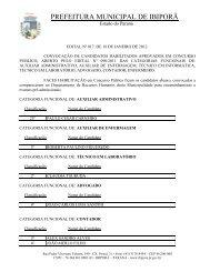 EDITAL 017/2012 – Convoca Candidatos p/ exames pré-admissionais