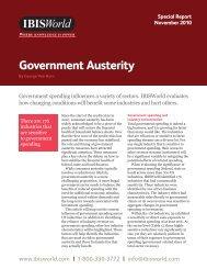 Government Austerity - IBISWorld