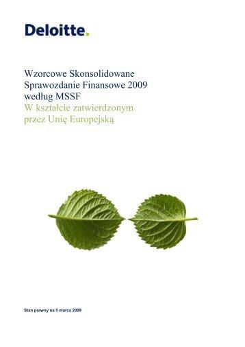 Wzorcowe Skonsolidowane Sprawozdanie Finansowe ... - IAS Plus