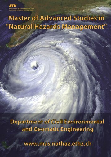 "Master of Advanced Studies in ""Natural Hazards Management"""