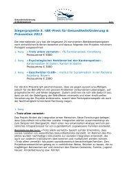 Begründung der Jury - IBK-Preis für Gesundheitsförderung und ...