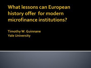 What lessons can be learned from Early Credit Cooperatives in ...
