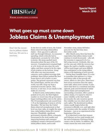 Jobless Claims & Unemployment - IBISWorld