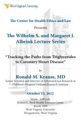 The Wilhelm S. and Margaret J. Albrink Lecture Series Ronald M ...