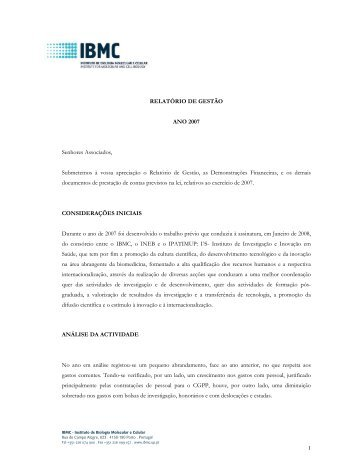 2007 [PDF] - IBMC - Universidade do Porto