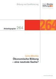 Ökonomische Bildung – eine neutrale Sache? - Hans-Böckler-Stiftung