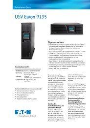 USV Eaton 9135 - bei der IBH IT-Service GmbH