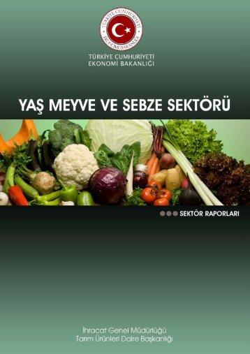 Yaş Meyve ve Sebze - İhracat Bilgi Platformu