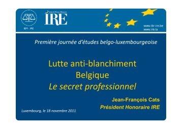 Le secret professionnel - IBR