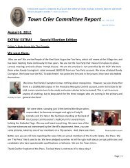 Town Crier Committee Report Special Edition - Saint Augustine Tea ...