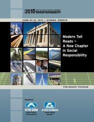 Modern Toll Roads - International Bridge, Tunnel and Turnpike ...