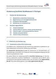 Anerkennung beruflicher Qualifikationen in Thüringen