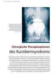 des Kurzdarmsyndroms - Hauner Journal