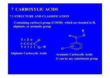 7 CARBOXYLIC ACIDS