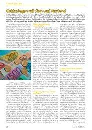 Der Spatz: Geldanlagen mit Sinn und Verstand