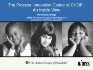 The Process Innovation Center at CHOP - himss