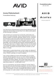 Acutus Plattenlaufwerk - Audio Reference