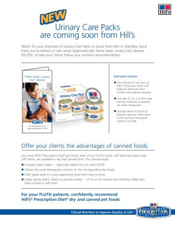 Urinary Care Packs are coming soon from Hill's - HillsVet