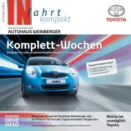 Komplett-Wochen - Autohaus Weinberger