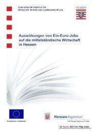 Auswirkungen von Ein-Euro-Jobs - HA Hessen Agentur GmbH