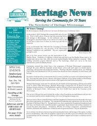 Anniversary 2010 - Heritage Mississauga