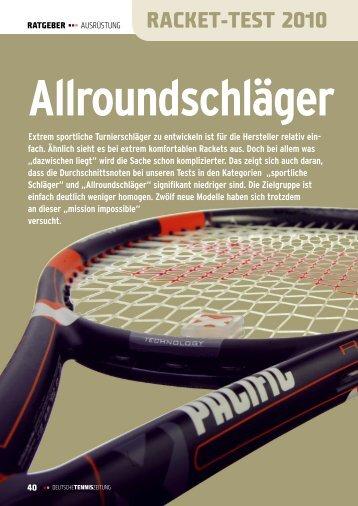 RACKET-TEST 2010 - gotennis - Erfolgreicher Tennis spielen