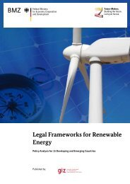 Legal Frameworks for Renewable Energy - The Infrastructure ...