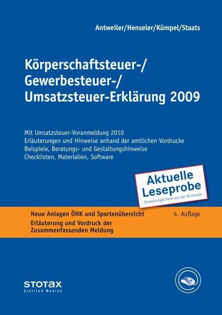 Körperschaftsteuer-/ Gewerbesteuer ... - Stollfuß Medien