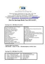 New Kia Sportage Model Year 2012 & 2011 - ICB - International Car ...