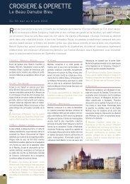 CROISIERE & OPERETTE - Histoire & Voyages
