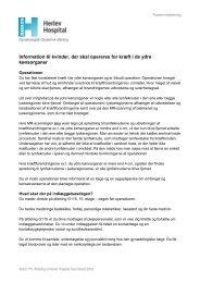 Information til kvinder, der skal opereres for kræft i ... - Herlev Hospital