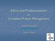 Activities - International Centre for Complex Project Management