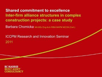 Shared commitment to excellence Inter-firm alliance structures in ...