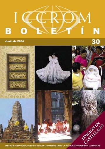 ICCROM - Boletin 30