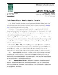 Code Council Seeks Nominations for Awards - International Code ...
