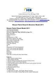 Nissan Patrol Benziner Model 2011 - ICB - International Car Bridge