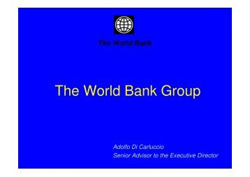 The World Bank Group - Ice