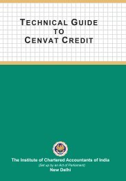 TECHNICAL GUIDE TO CENVAT CREDIT - ICAI