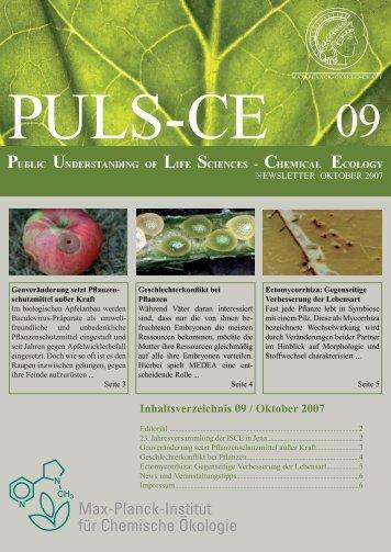 Inhaltsverzeichnis 09 / Oktober 2007 - Max Planck Institute for ...