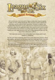 League of Six - Loyal Retinue - Czech Games Edition