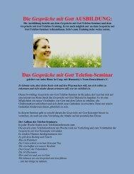 Das Gespräche mit Gott Telefon-Seminar - Humanity's Team ...