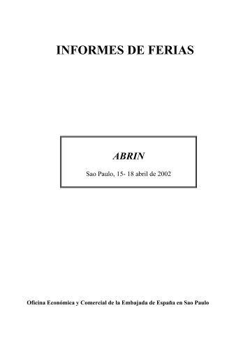 INFORMES DE FERIAS - Icex