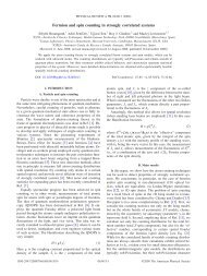 Fermion and spin counting in strongly correlated systems - APS Link ...