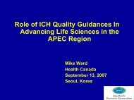 Role of ICH Quality Guidance Documents In Advancing Life ...