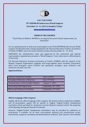 CALL FOR PAPERS 55th ICHPER•SD Anniversary World Congress ...